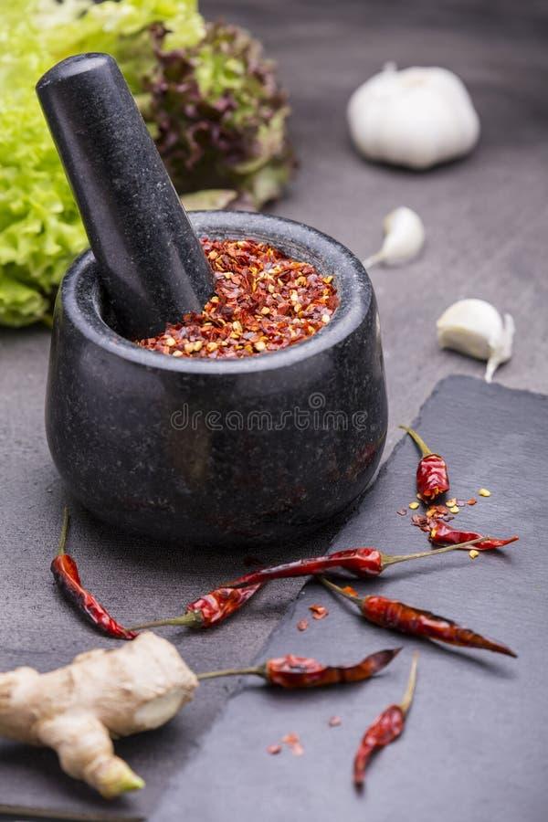 Sementes das pimentas de pimentão imagem de stock royalty free