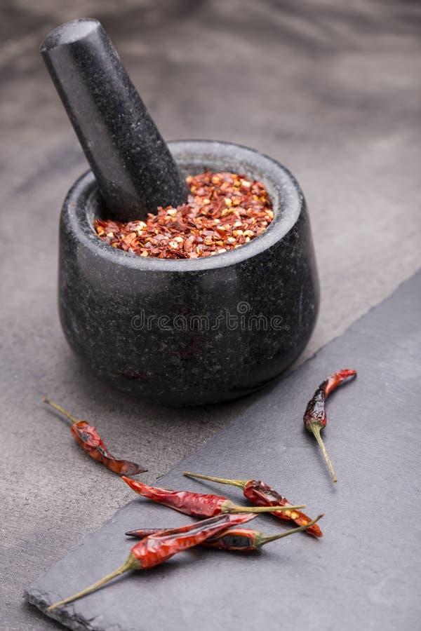 Sementes das pimentas de pimentão fotografia de stock royalty free