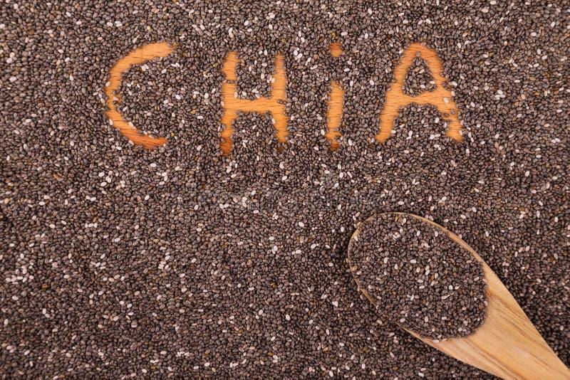 Sementes de Chia imagem de stock