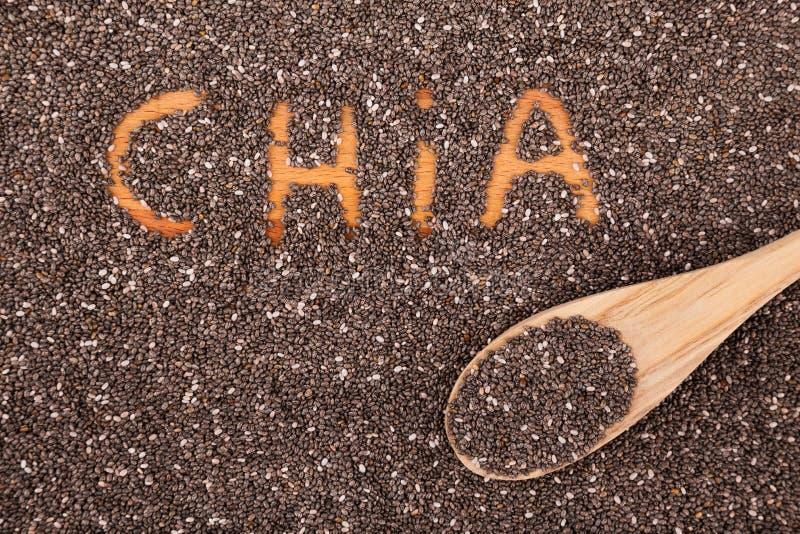 Sementes de Chia imagens de stock royalty free