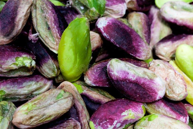 Sementes do pistachio fotos de stock