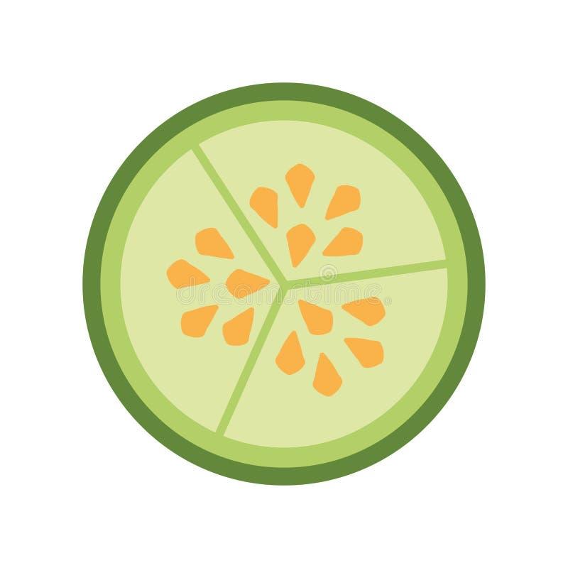 Sementes do vegetal do pepino ilustração royalty free
