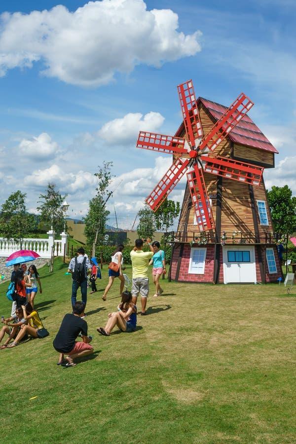 SEMENYIH,马来西亚- 8月8 :在庄严的Eco的营业日, Semenyih的一个新的乡 库存照片