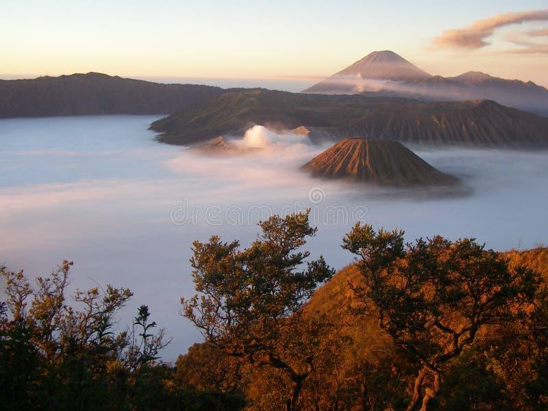 semeru Индонесии стоковое фото rf