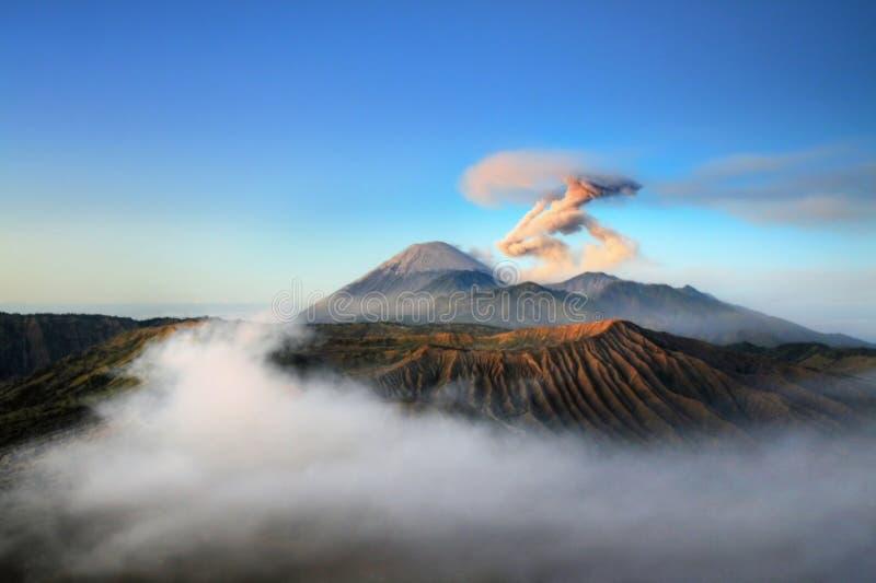 Semeru volcano. Sunrise view to the Semeru volcano, ava Island, Indonesia royalty free stock photo