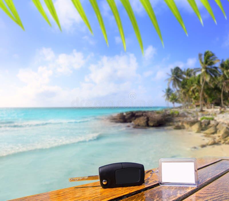 semester för karibiska tangenter för bil uthyrnings- arkivfoton