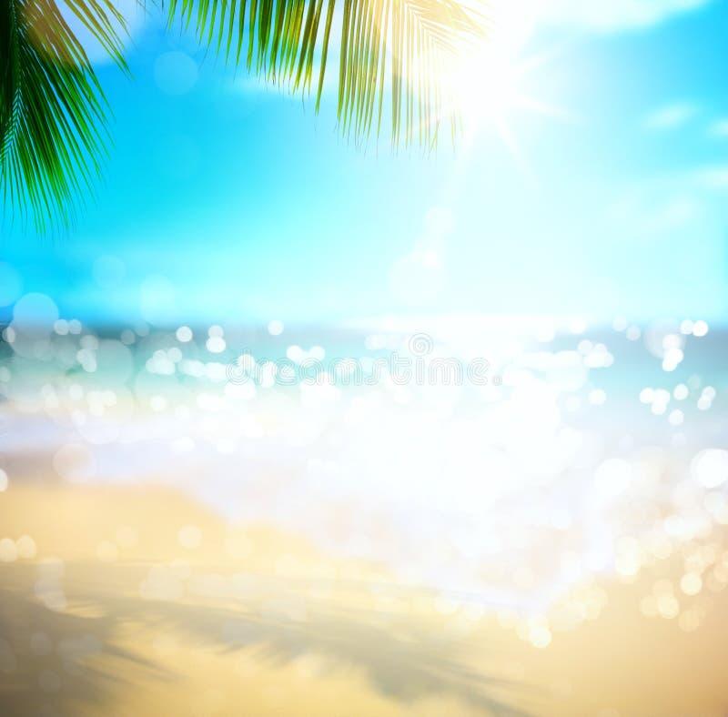 Semester för konsthavssommar; tropisk strandbakgrund royaltyfri foto