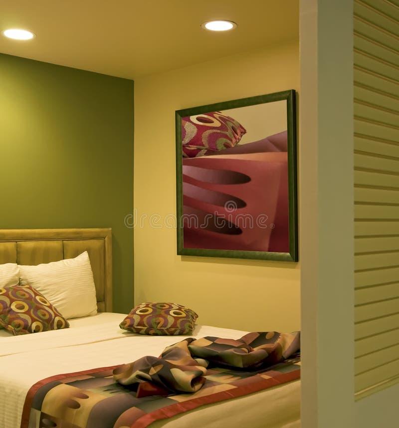 semester för sovrumhotellsemesterort arkivbild