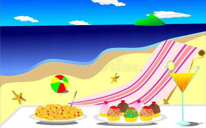 Download Semester i strand stock illustrationer. Illustration av soligt - 27288278