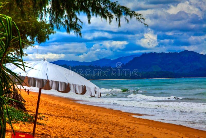 Semester på en strandsemesterort arkivfoton