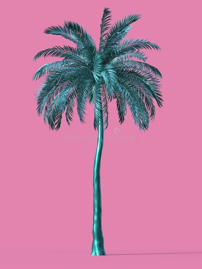 Semestern för den guld- guld- för den tropiska växten för palmträdet turnerar den stora för drömmen för stranden för symbolet bes vektor illustrationer