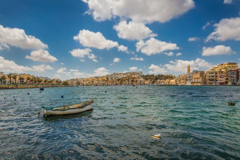 Semesterort Marsaskala, Malta arkivbild
