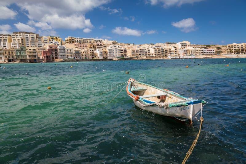 Semesterort Marsaskala, Malta arkivfoto