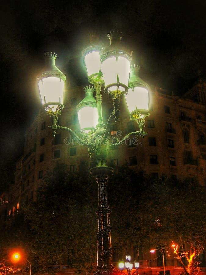 semesterorten för natten för lampan för altay belokurikhahälsa sköt den siberia gatan royaltyfri fotografi