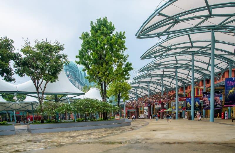 Semesterortvärld Sentosa, Singapore arkivbilder