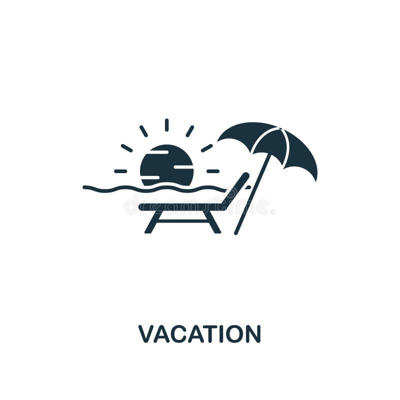 Semestersymbol Idérik beståndsdeldesign från turismsymbolssamling Perfekt semestersymbol för PIXEL för rengöringsdukdesign, apps, royaltyfri illustrationer