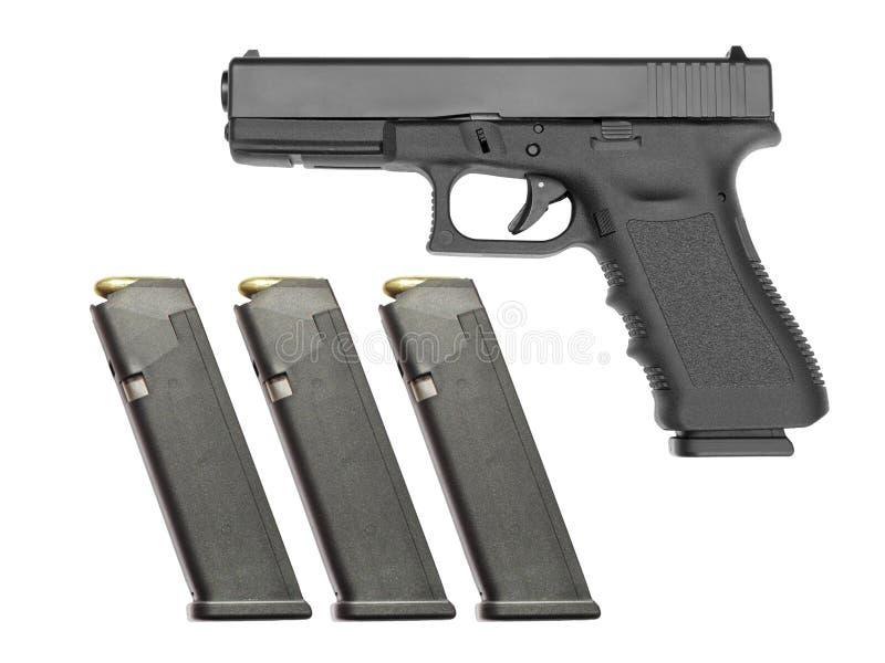 Semi автоматическое личное огнестрельное оружие стоковая фотография rf