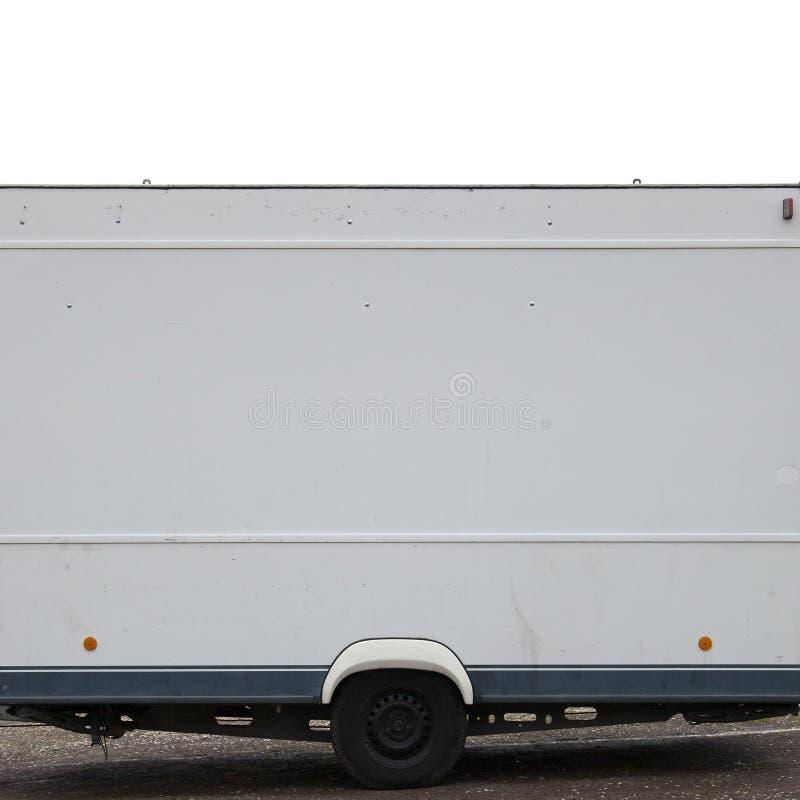 semi бортовая белизна трейлера стоковое фото