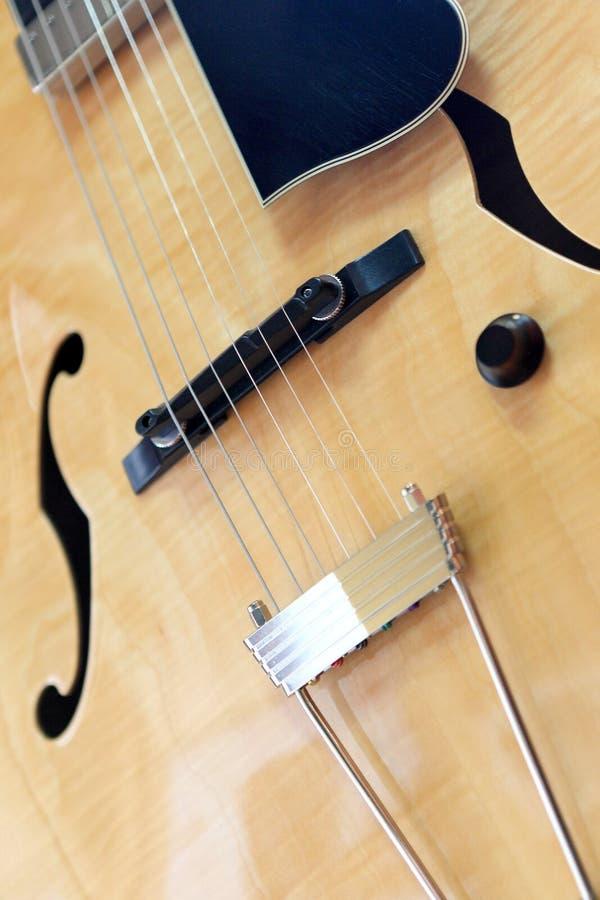 Semi acoustic guitar stock photo
