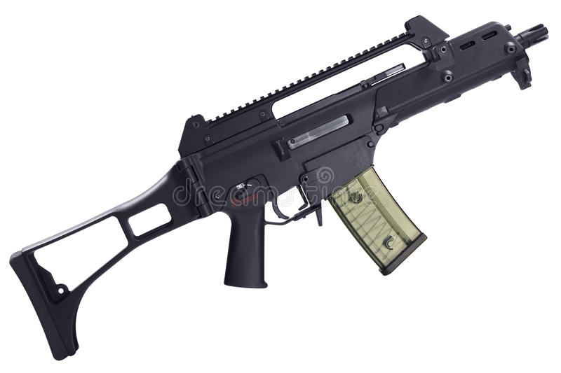 Semi-automatic assault rifle isolated royalty free stock photography