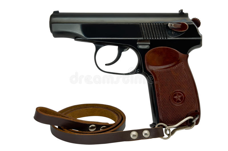 Download Semi-automatic pistol stock photo. Image of background - 23756586