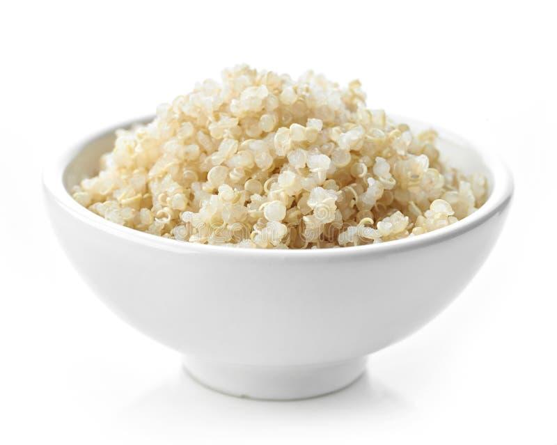 Semi bolliti della quinoa immagine stock