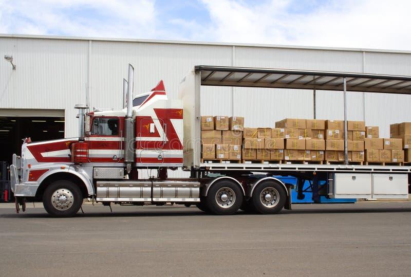 Semi caminhão imagem de stock royalty free