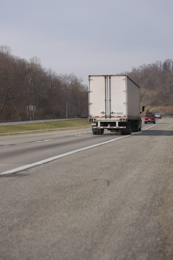 Semi caminhão fotografia de stock