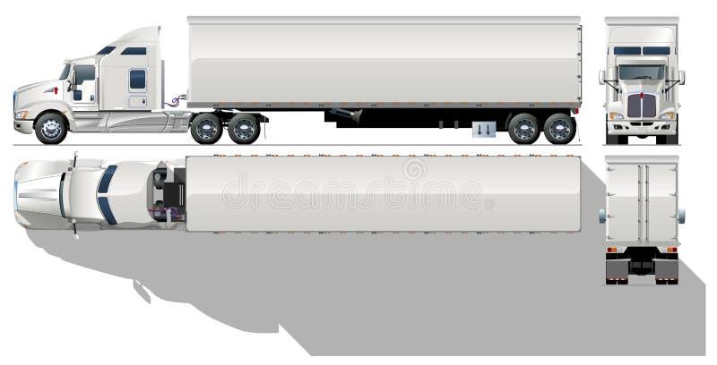 Semi-caminhão da carga do vetor ilustração do vetor