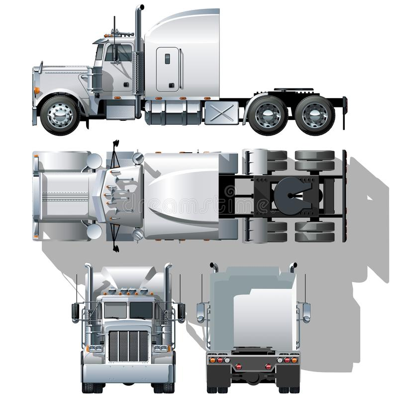 Semi-caminhão olá!-detalhado do vetor ilustração do vetor