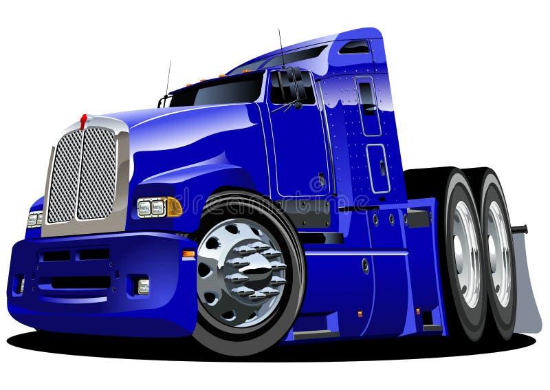 Semi-camion de dessin animé de vecteur illustration de vecteur