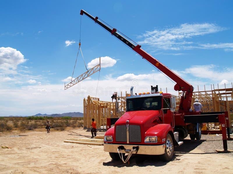 Semi camion - horizontal photographie stock libre de droits