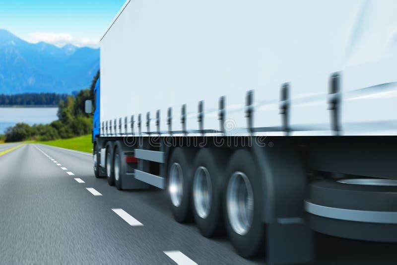 Semi-camion sur une route illustration libre de droits