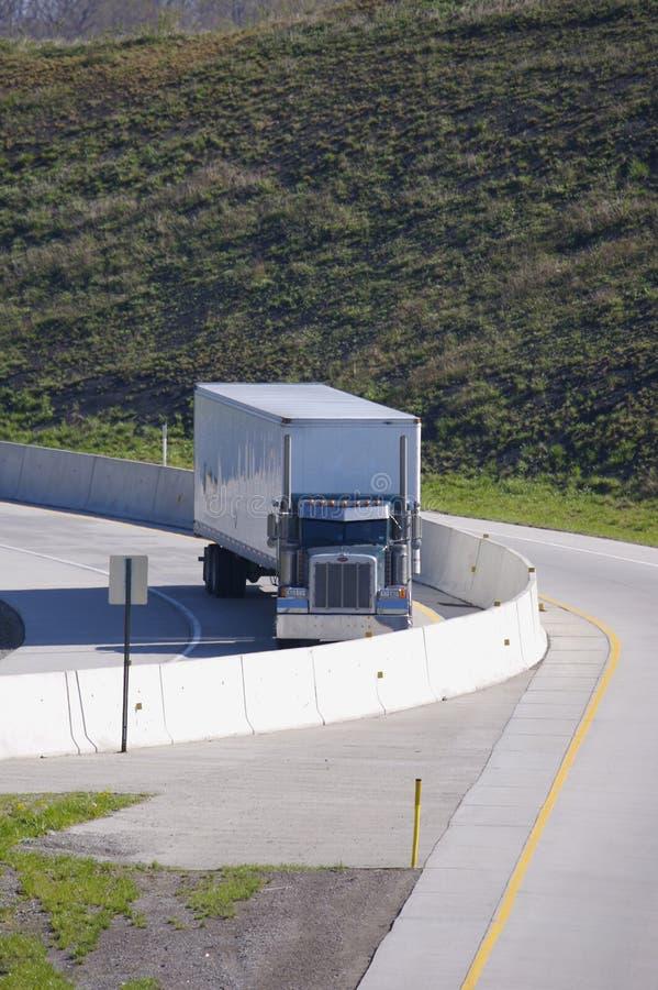 semi ciężarówka rampy zdjęcie stock
