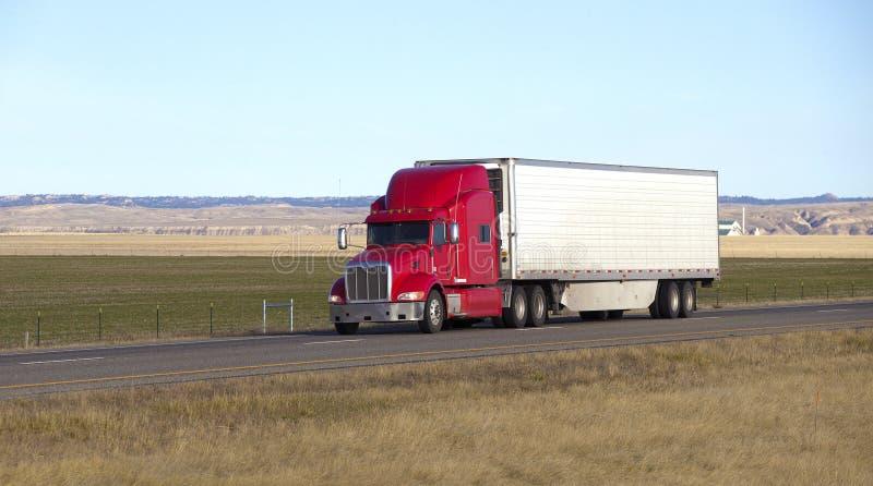 Semi ciężarówka z przyczepą fotografia stock