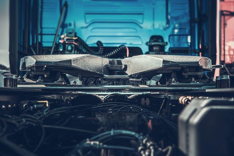 Semi close up do engate do caminhão imagem de stock