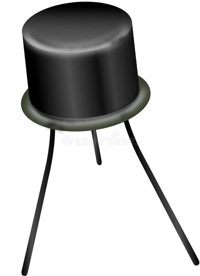 Semi conductor diode. Illustration royalty free illustration