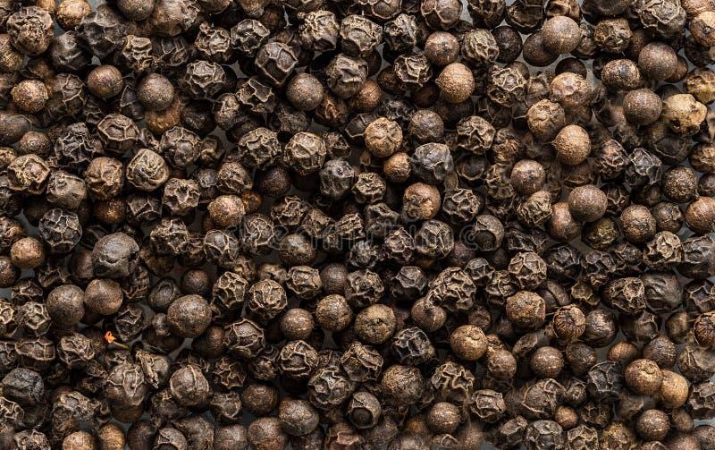 Semi del pepe nero come struttura del fondo Alimento biologico immagine stock