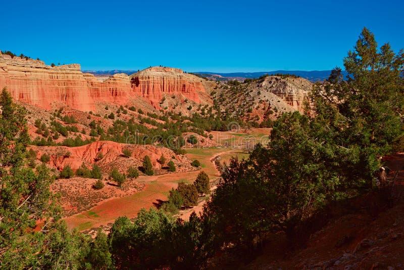 Semi desert landscape near Teruel city, Aragon, Spain royalty free stock images