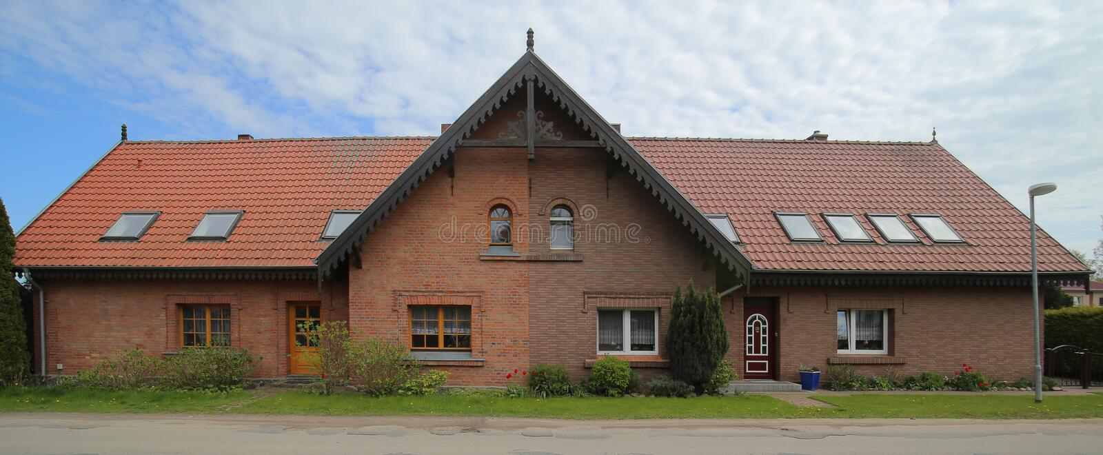 Download Semi Detached House Listed As Monument In Germany Stock Photo - Image of germany, vorpommern: 93333044