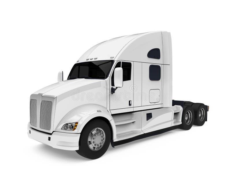 Semi Geïsoleerde Vrachtwagen royalty-vrije stock afbeeldingen