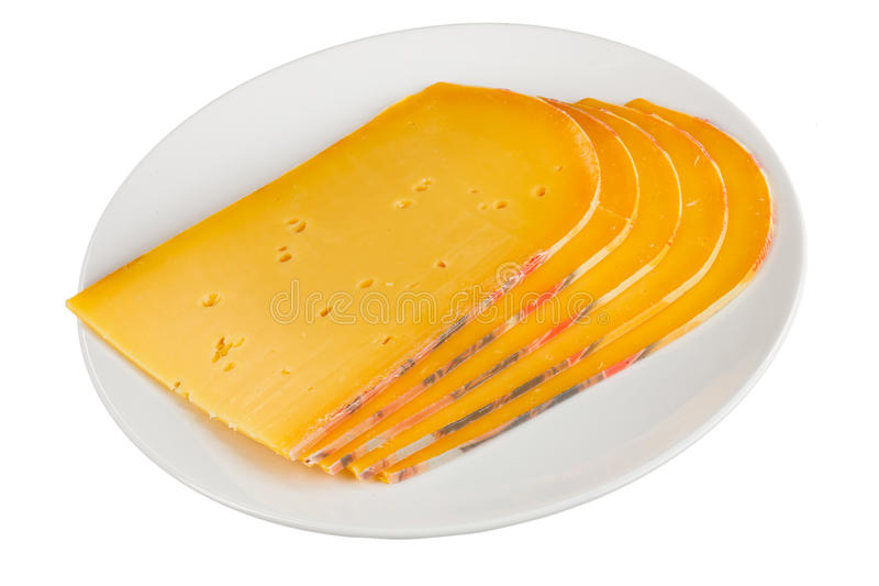 Download Semi-hard cheese stock image. Image of colour, slice - 23841625