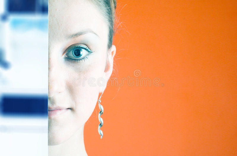 Semi-hidden Face 1 stock photos