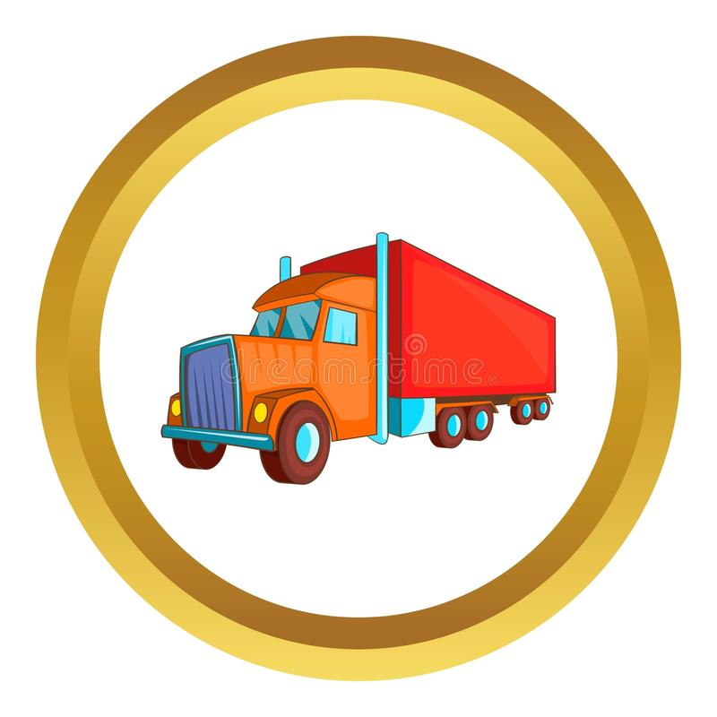 Semi icône de vecteur de camion de remorque illustration stock