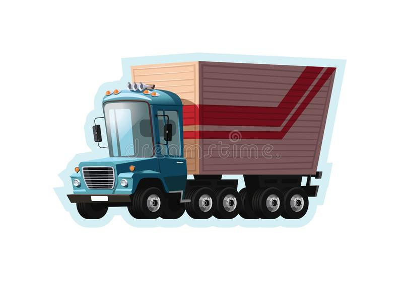 Semi illustration de vecteur de camion illustration libre de droits