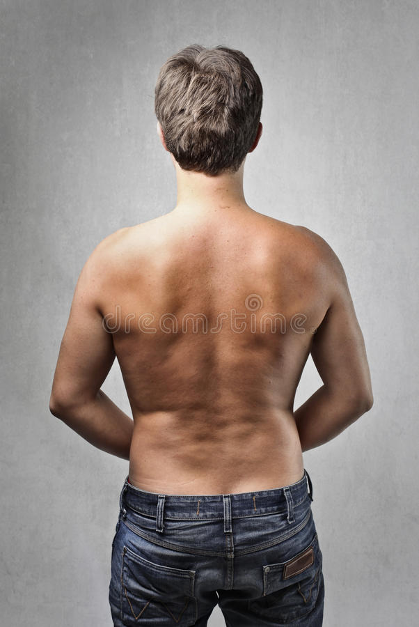 Semi-naked man royalty free stock images