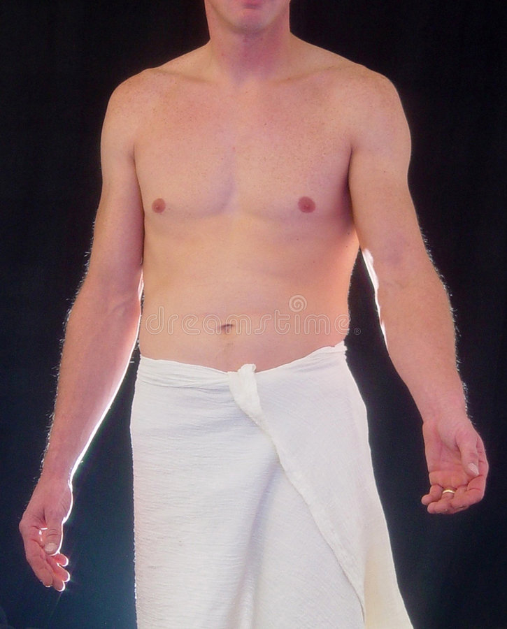 Download Semi Nude Male With Arm Outstretched Stock Photo - Image: 116286