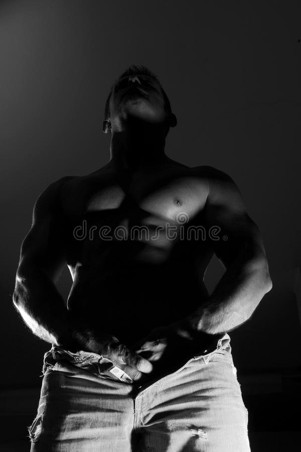 Download Semi Nude Muscular Man In Jeans Stock Photo - Image: 34458388