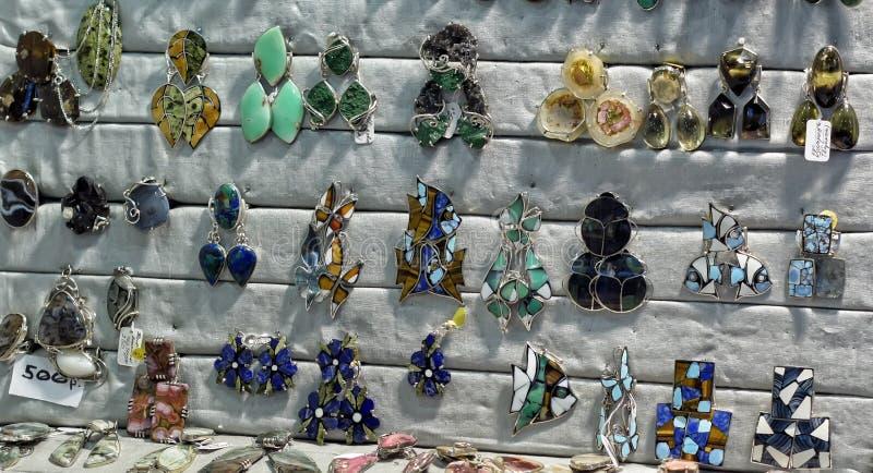 Semi-precious stones ring stock images