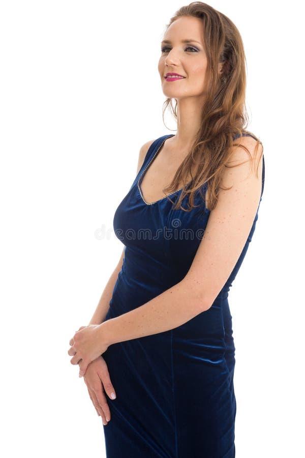 Semi profil d'une belle femme Port femelle de modèle élégant photos stock